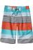 Patagonia Wavefarer Shorts Boys Fitz Stripe: Howling Turquoise
